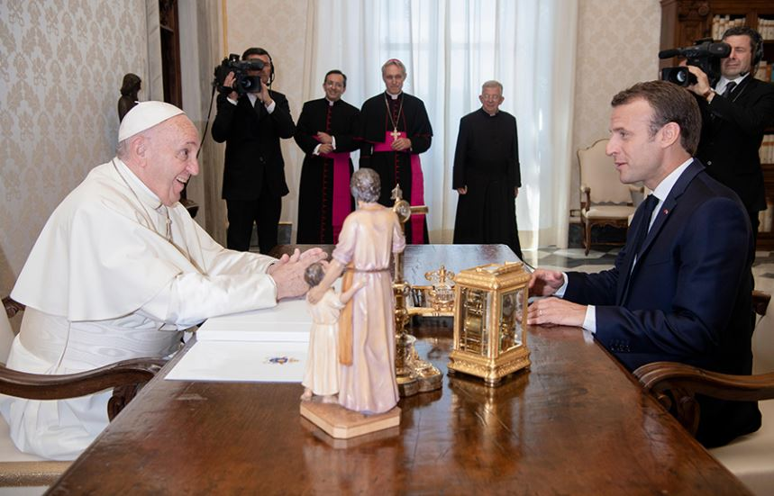 Pope Francis And Emmanuel Macron Talk About Immigration In First Meeting Archdiocese Of Malta