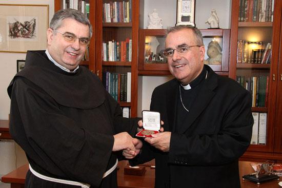 Archbishop meets Rev Jose Rodriguez Carballo